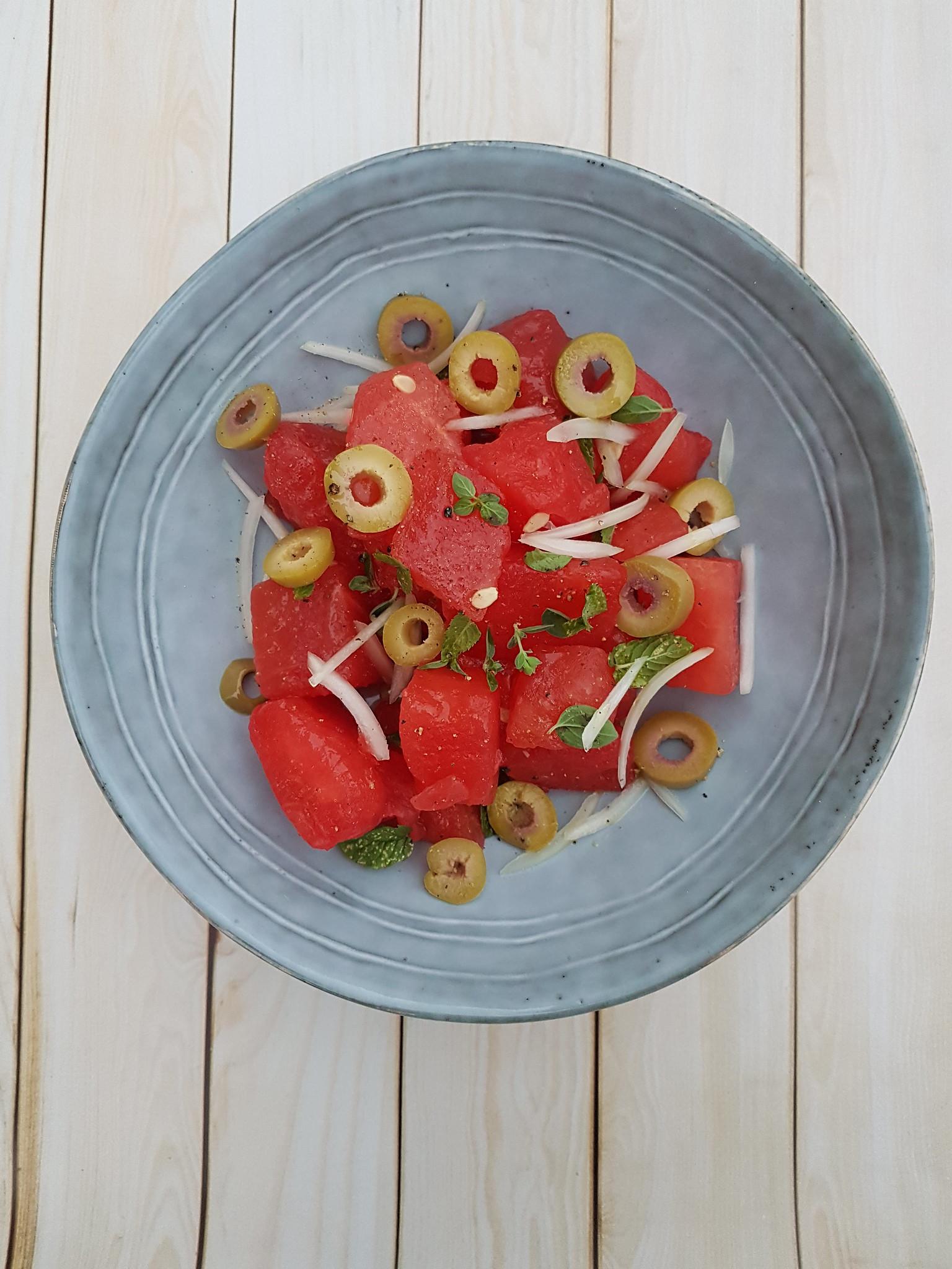 Salade de pastèque aux olives