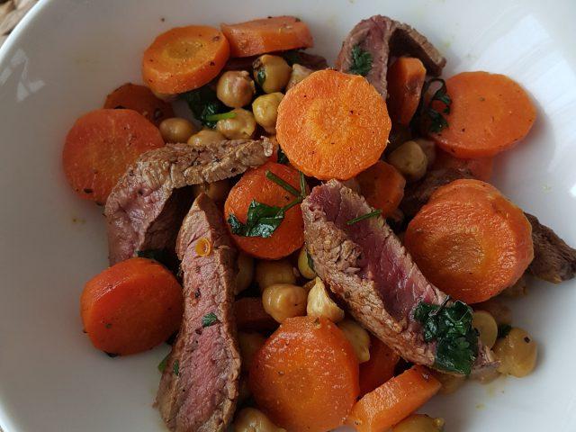 Boeuf carottes pois chiches