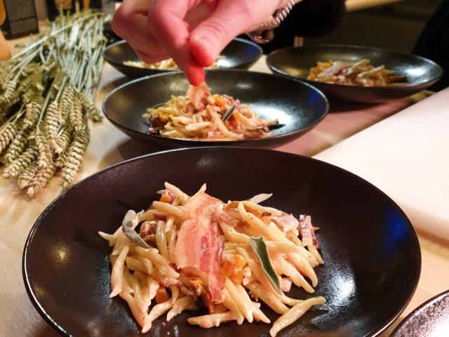 Trofie, courge Butternut & champignons