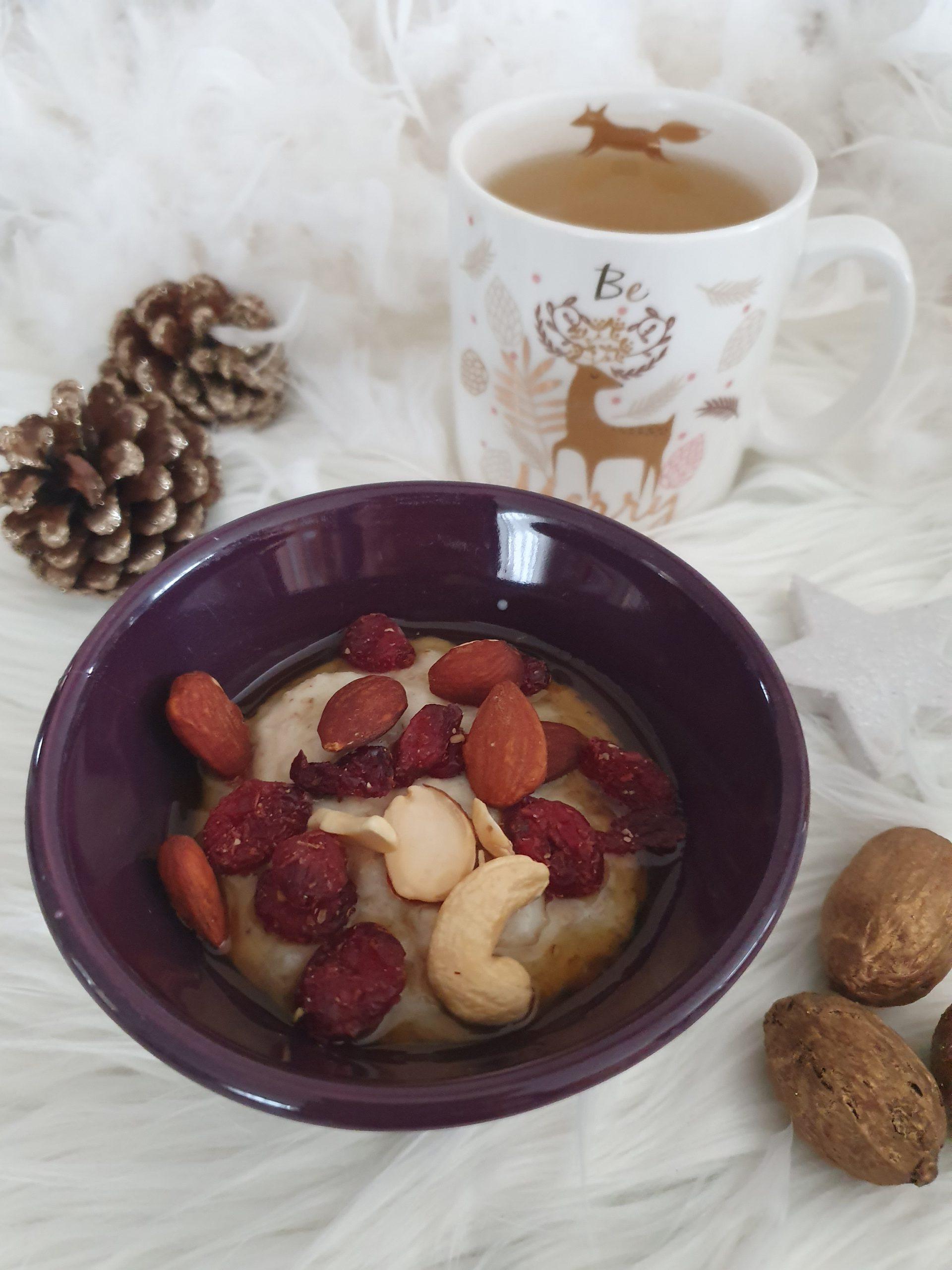 Porridge aux miel et noix