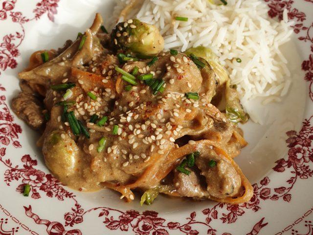 Magret de canard sauce satay