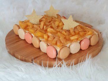 Dessert de Noël ananas et macarons