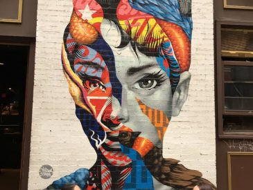 Fresque Audrey NYC Little Italy