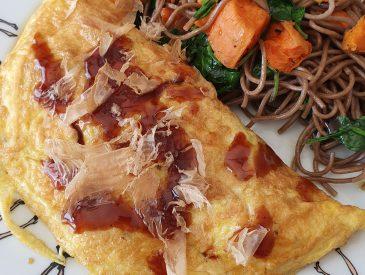 Omelette Japonaise au chou chinois