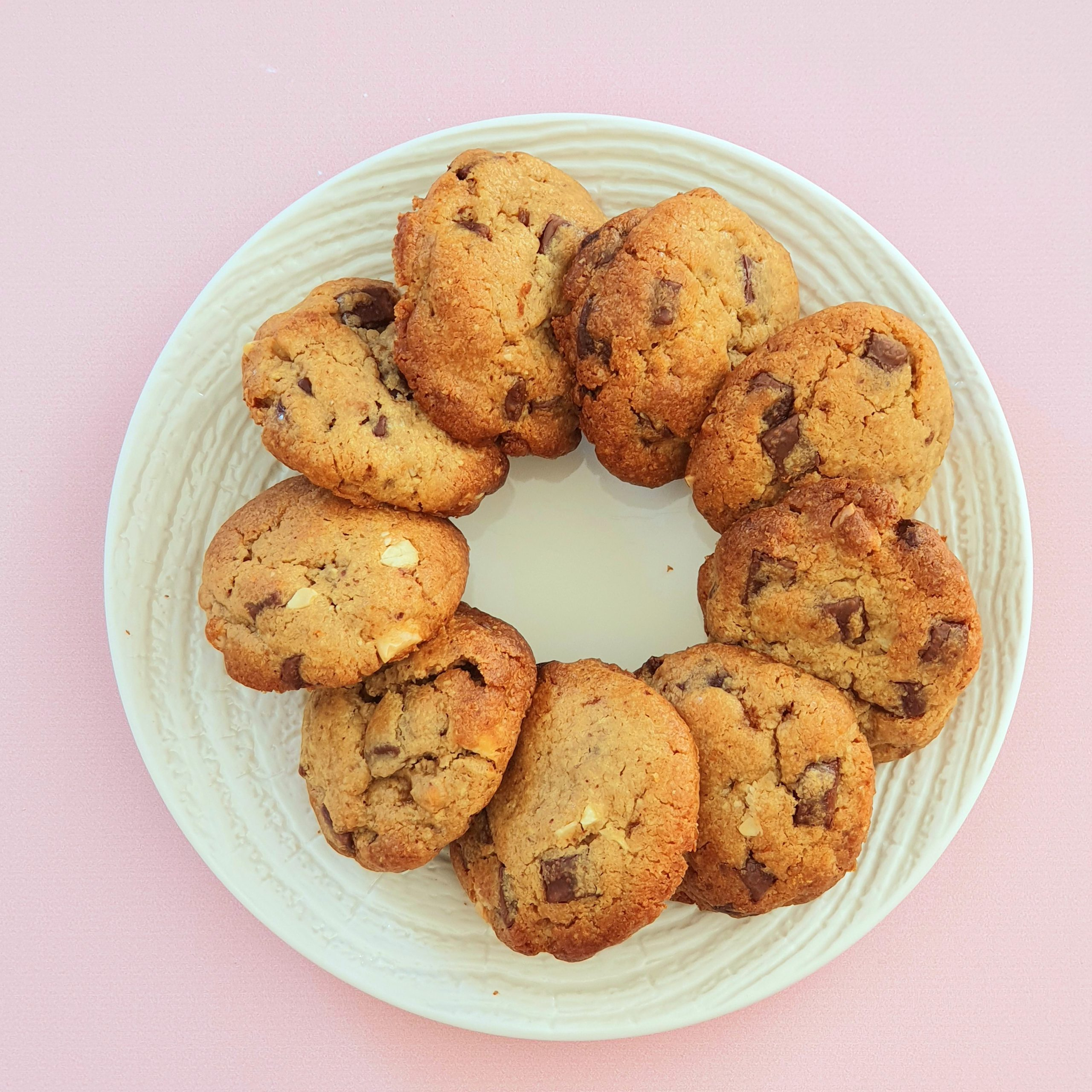 Cookies amandes chocolat
