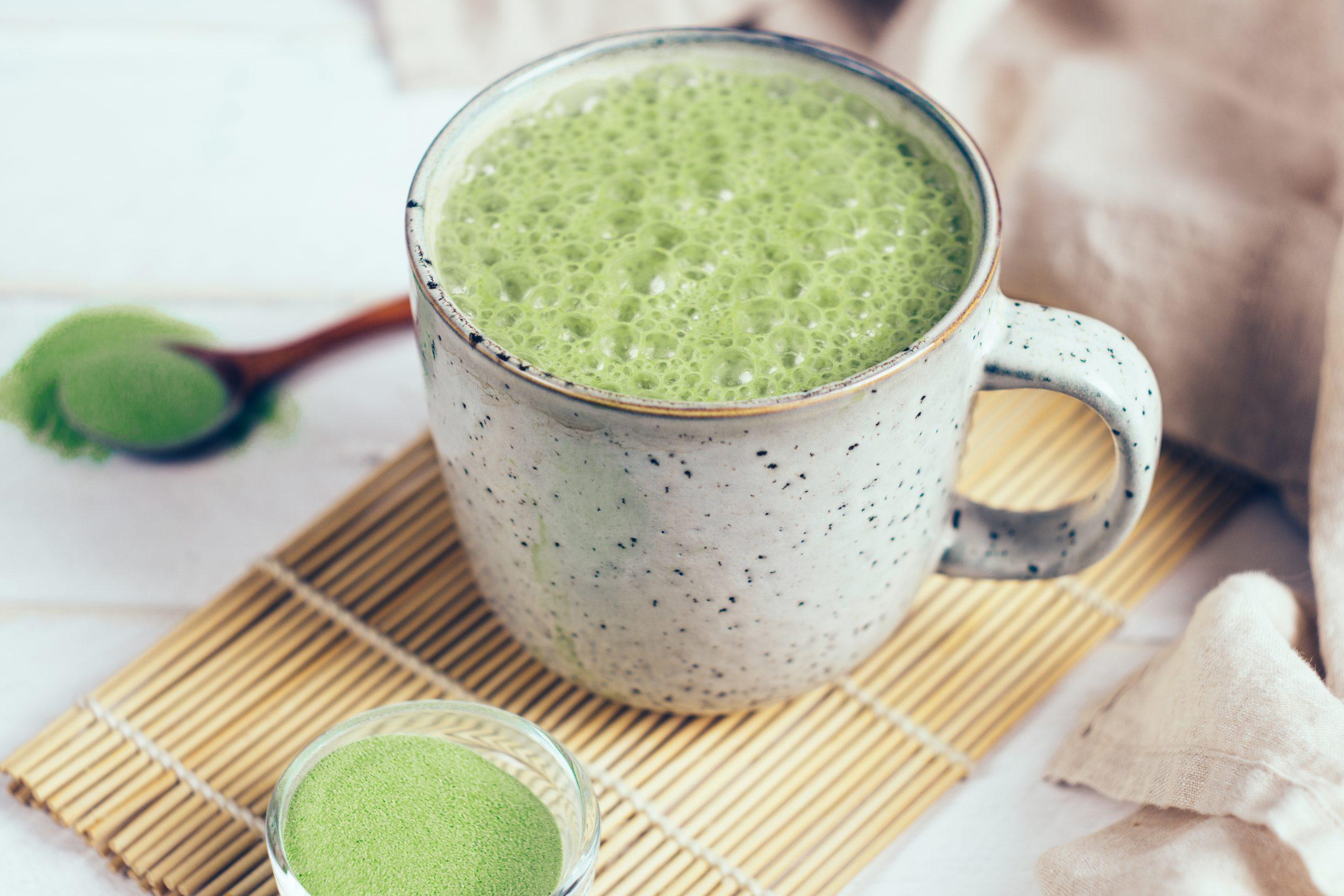 Matcha-latte au lait de coco | Audrey Cuisine